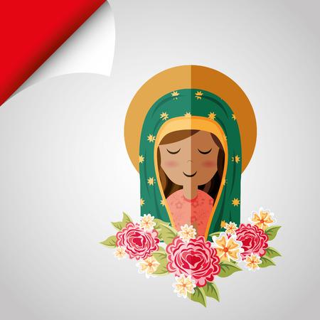 blessed: Blessed virgin design, vector illustration eps10 graphic Illustration