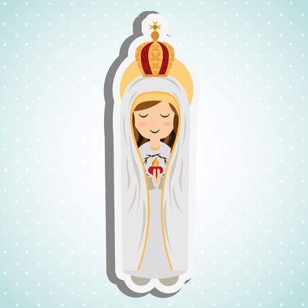beauty queen: Blessed virgin design, vector illustration eps10 graphic Illustration