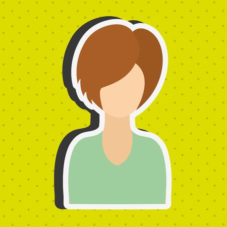 femenine: avatar person design, vector illustration eps10 graphic Illustration