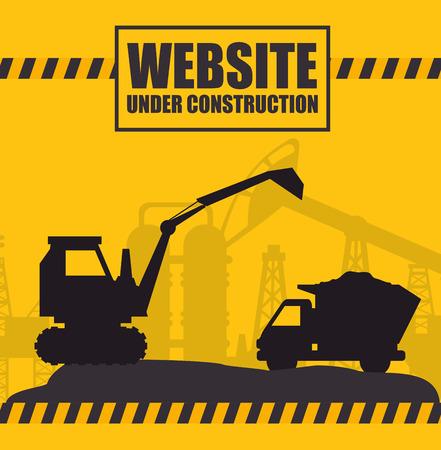 tractor warning: website under construction design, vector illustration eps10 graphic Illustration