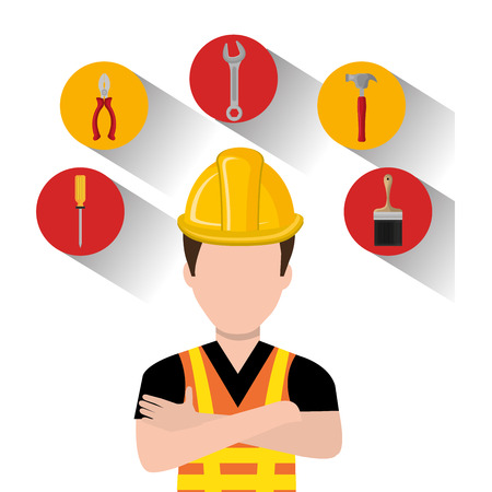 construction equipment: construction equipment design, vector illustration Illustration