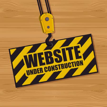website under construction: website under construction design, vector illustration eps10 graphic Illustration