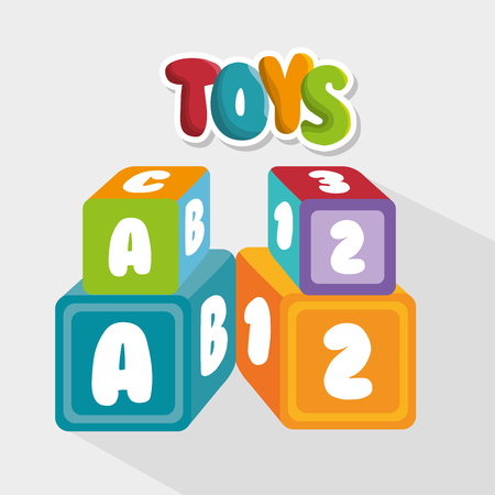 numbers clipart: cute toys design, vector illustration eps10 graphic Illustration