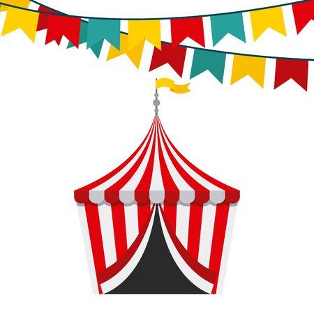cartoon circus: circus show  design, vector illustration eps10 graphic