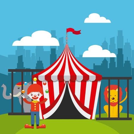 tent city: circus show  design, vector illustration eps10 graphic
