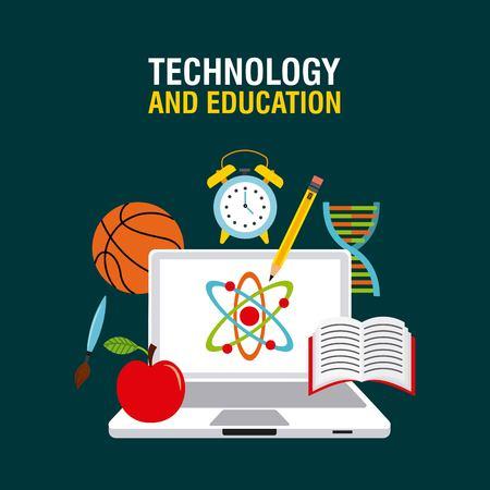 balon de basketball: la tecnolog�a y el dise�o de la educaci�n, ejemplo gr�fico del vector eps10 Vectores