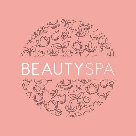 beauty spa: beauty spa design, vector illustration eps10 graphic Illustration