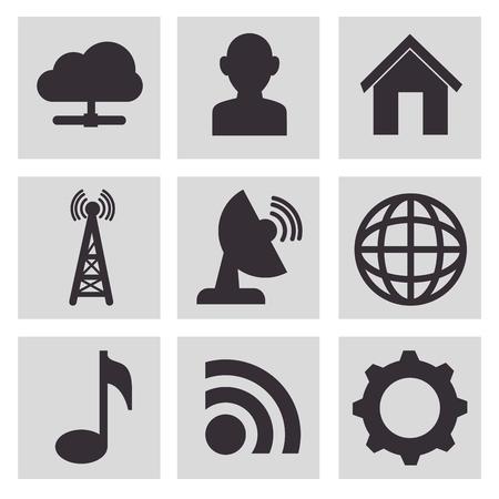 global settings: communication concept design, vector illustration eps10 graphic