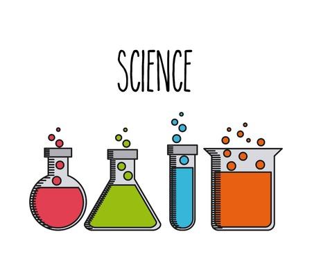Science lab design, vector illustration eps10 graphic Vektorové ilustrace