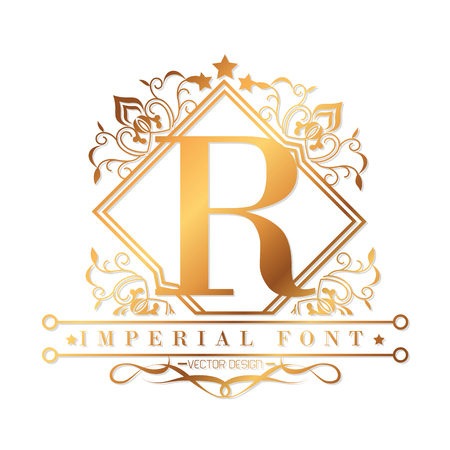 imperial: imperial font  design, vector illustration eps10 graphic