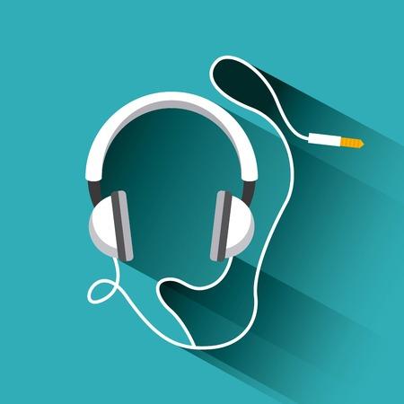 portable audio: headphones icon design, vector illustration eps10 graphic Illustration