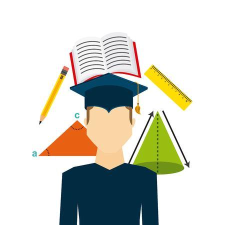 graduation celebration design, vector illustration eps10 graphic Imagens - 54647557