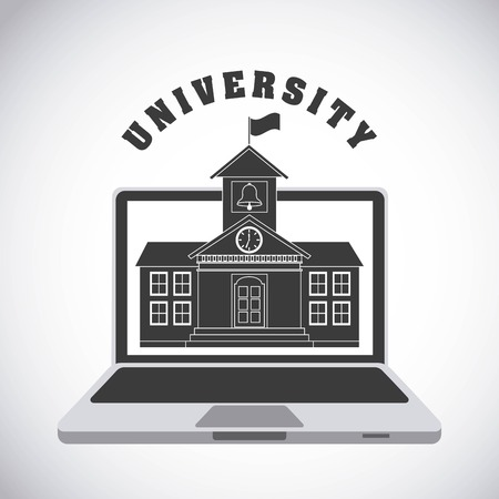 place to learn: university emblem design, vector illustration eps10 graphic