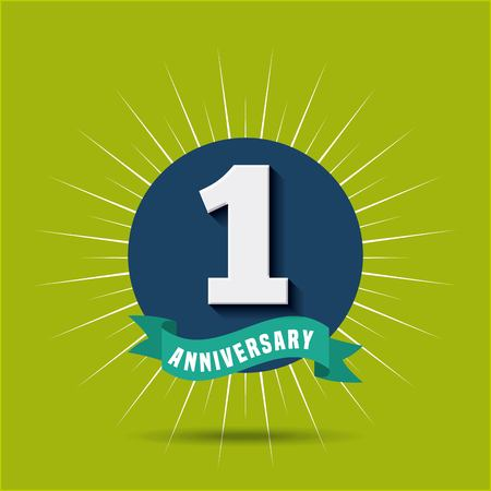 happy anniversary design, vector illustration eps10 graphic