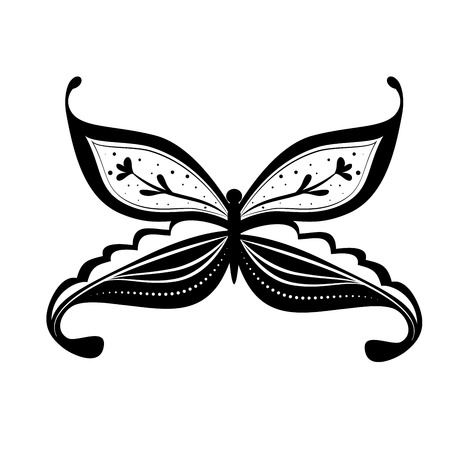 american butterflies: boho style design, vector illustration eps10 graphic