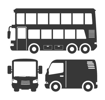 autobus trasporto disegno, illustrazione grafica vettoriale eps10