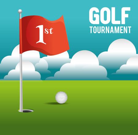 torneo de golf de diseño, ejemplo gráfico del vector eps10