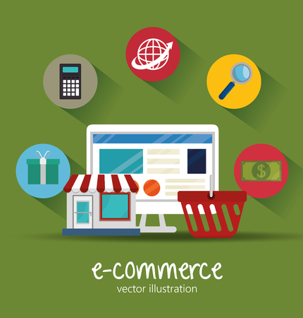 e store: electronic commerce design, vector illustration eps10 graphic