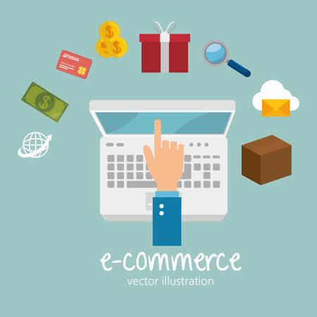 electronic commerce: electronic commerce design, vector illustration eps10 graphic