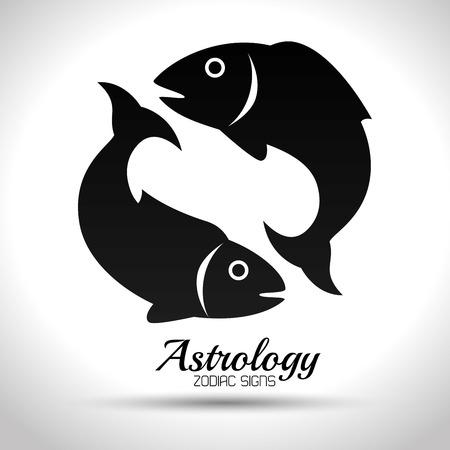 Astrologischen Tierkreiszeichen, Vektor-Illustration eps10 Grafik Standard-Bild - 54642964