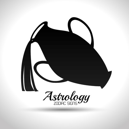 tribal aquarius: astrological signs of the zodiac, vector illustration eps10 graphic