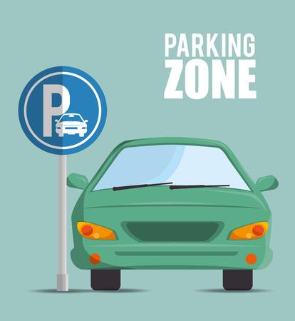 駐車場ゾーン デザイン、ベクトル図 eps10 グラフィック  イラスト・ベクター素材