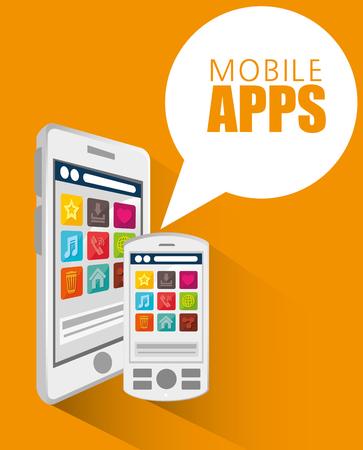 mobile apps: mobile apps design, vector illustration eps10 graphic
