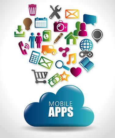 mobile apps design, vector illustration eps10 graphic