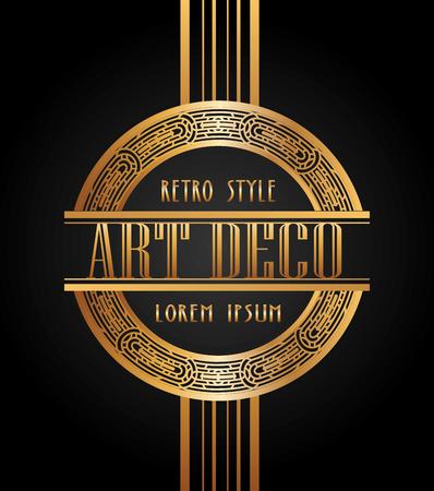 art deco elemento di design, illustrazione grafica vettoriale eps10