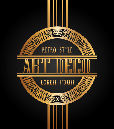 het ontwerp van het art decoelement, vector grafische illustratie eps10 Stock Illustratie