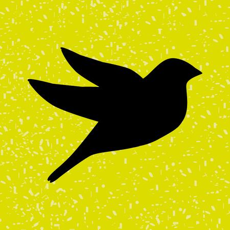 diseño de icono de pájaro, ilustración vectorial gráfico eps10 Ilustración de vector