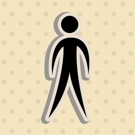 figura humana: human figure design, vector illustration eps10 graphic Vectores