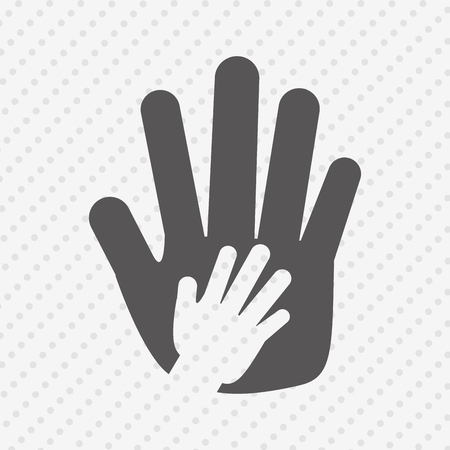 mutual assistance: hand human design, vector illustration eps10 graphic