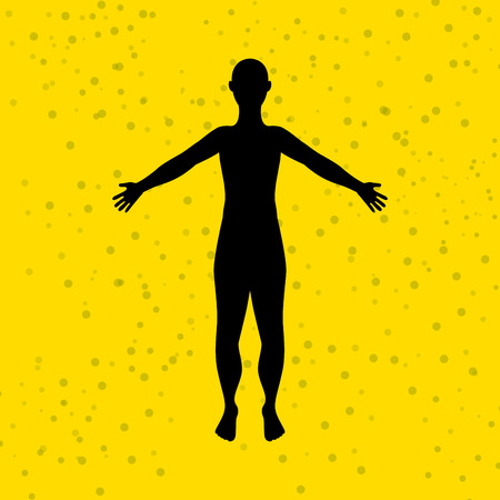 figura humana: diseño figura humana, ejemplo gráfico del vector eps10