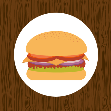 ready to eat: fast food design, vector illustration eps10 graphic