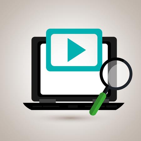 portable: portable computer design, vector illustration eps10 graphic