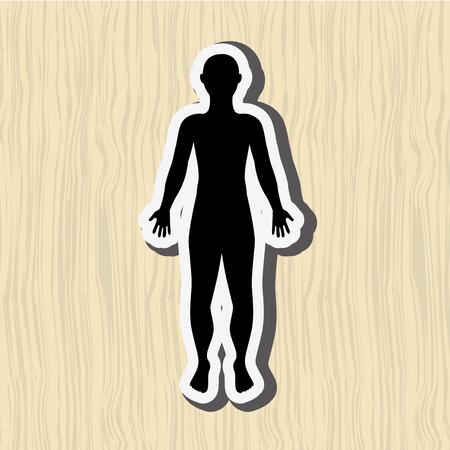 human figure: human figure design, vector illustration eps10 graphic Vectores