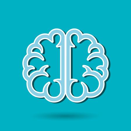 brain illustration: brain storm design, vector illustration eps10 graphic