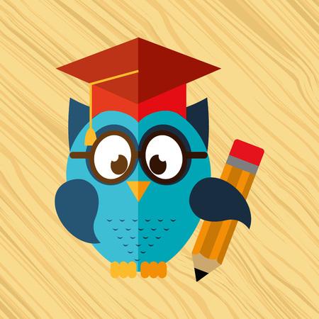 owl bird design, vector illustration eps10 graphic
