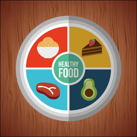 gezonde voeding ontwerp, vectorillustratie eps10 grafische Vector Illustratie