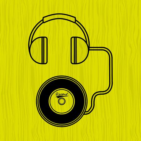 vinyl disk player: music concept design, vector illustration eps10 graphic