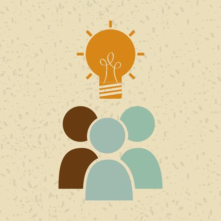 business graphics: big idea design, vector illustration eps10 graphic
