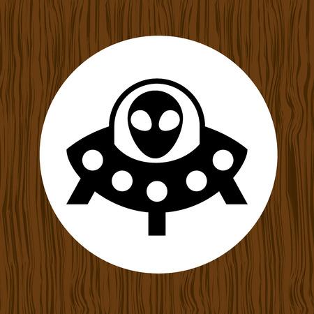 ufo: baby toy icon design, vector illustration eps10 graphic