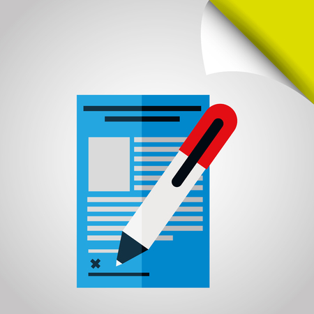 signing papers: signing contract design, vector illustration eps10 graphic