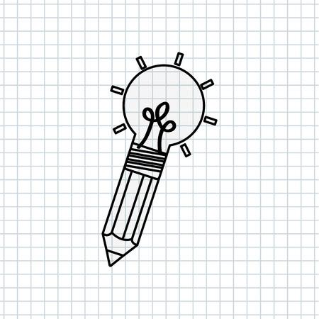 contemplate: big idea design, vector illustration eps10 graphic