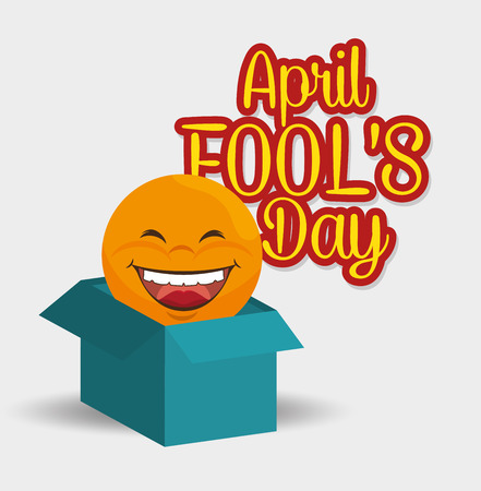 idiot box: fools day design, vector illustration eps10 graphic Illustration