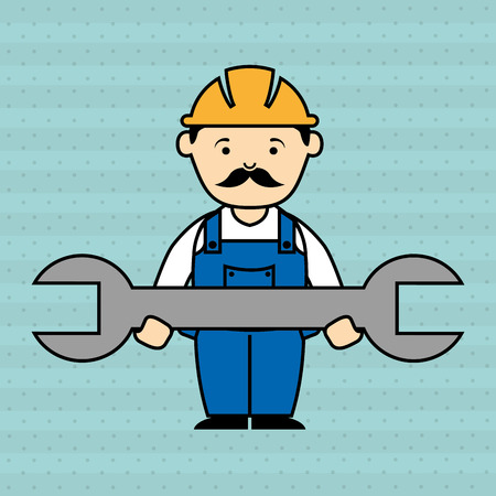 Industrial workers: under construction design, vector illustration eps10 graphic Illustration