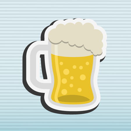 beer icon design, vector illustration eps10 graphic Illustration