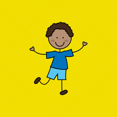 person smiling: kids happy design, vector illustration eps10 graphic Illustration