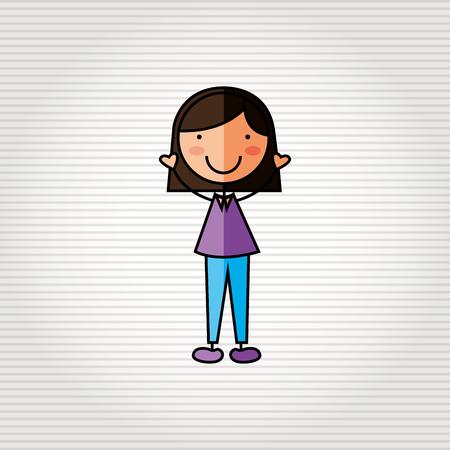 animated women: kids happy design, vector illustration eps10 graphic Illustration